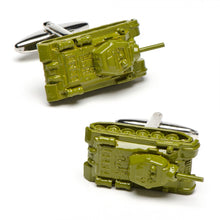 Army Green Tank Cufflinks