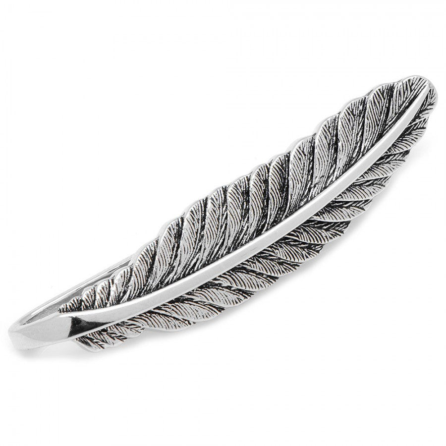 Sterling Feather Tie Bar