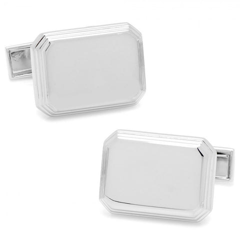 Sterling Rectangular Engravable Cufflinks