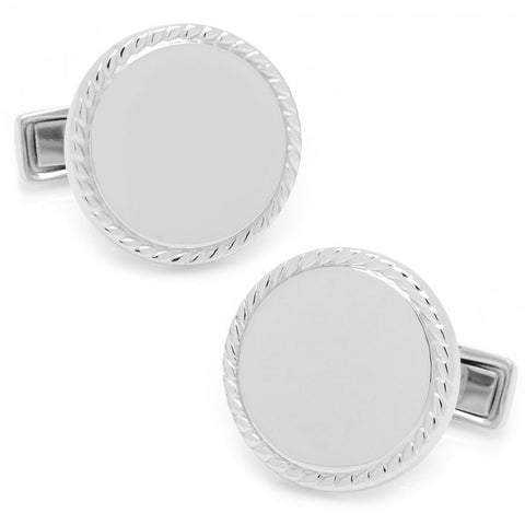 Sterling Silver Engravable Cufflinks