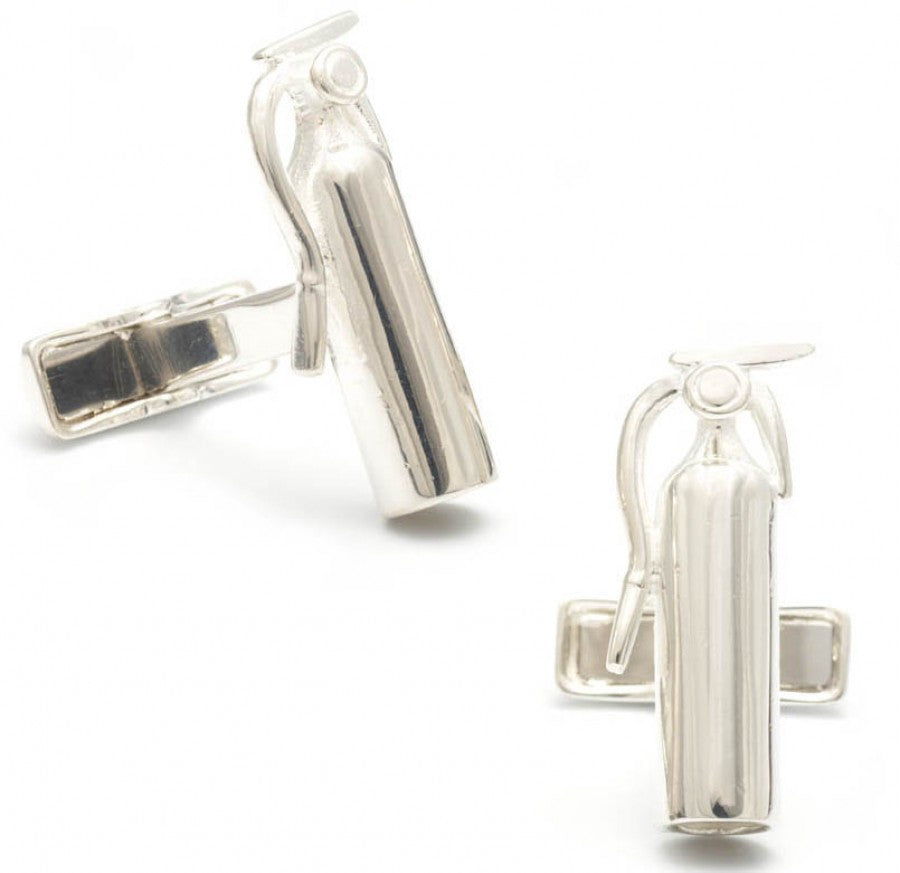 Sterling Fire Extinguisher Cufflinks