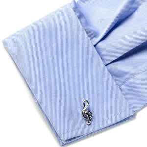 Sterling Treble Clef Cufflinks