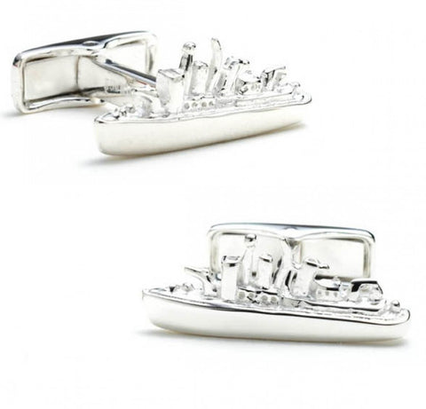 Silver Oval 4GB USB Flash Drive Cufflinks