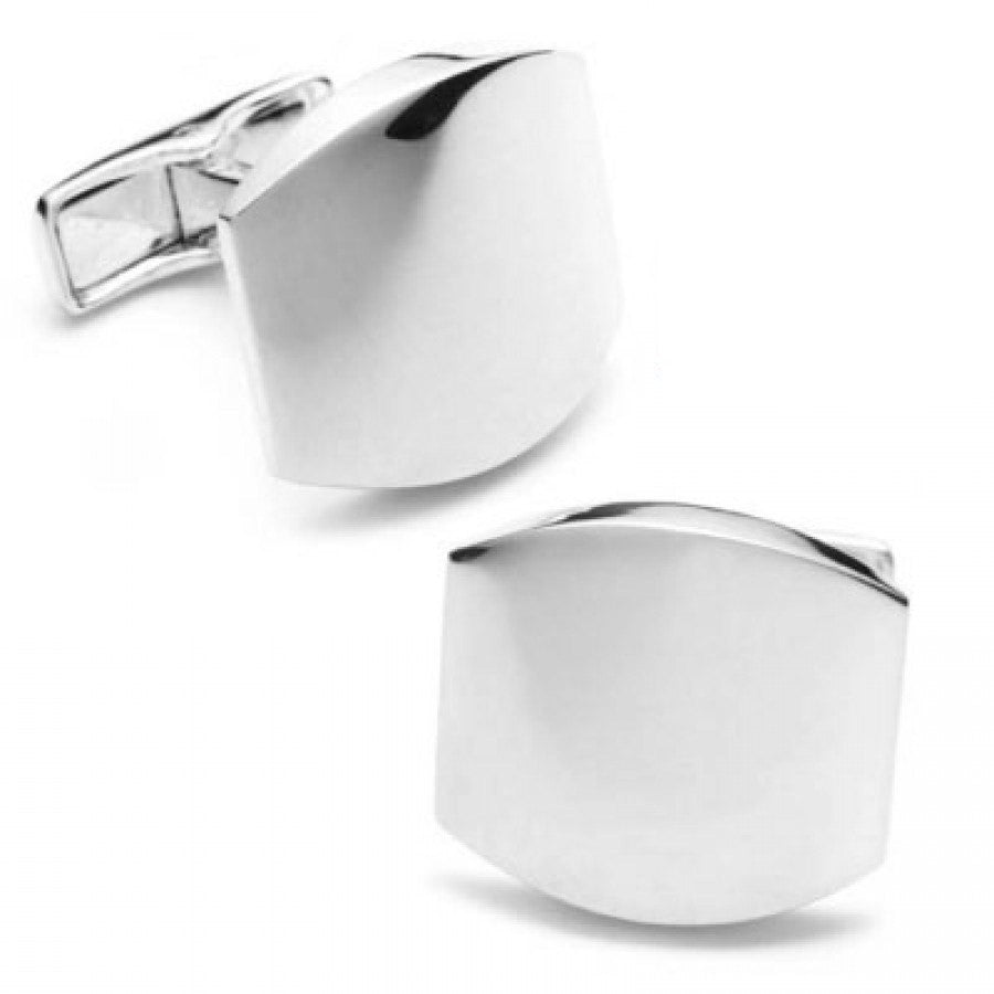 Classic Silver Engravable Cufflinks