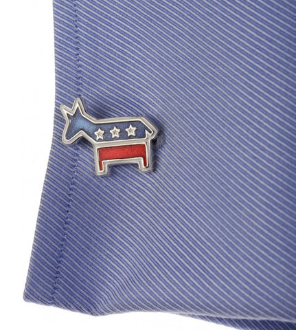 Sterling Democratic Donkey Cufflinks