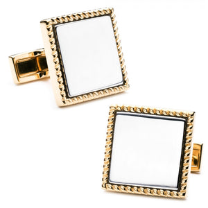 Two Tone Square Cufflinks