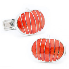 Sterling Silver Pumpkin Cufflinks