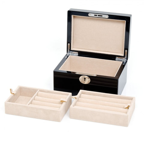 15 Pair Black Valet Cufflinks Case