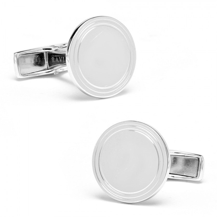 Etched Round Personalized Cufflinks