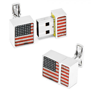 4GB USA Flag USB Flash Drive Cufflinks