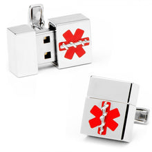 4GB Silver Medical USB Pendant