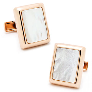 Rose Gold and Mother of Pearl JFK Presidential Cufflinks