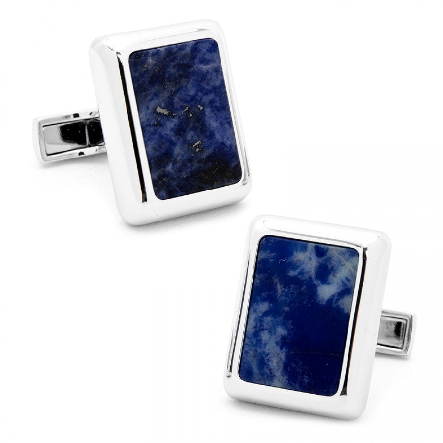 Silver and Lapis JFK Presidential Cufflinks