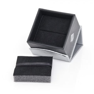 Iron Black Woven Oval 4GB USB Flash Drive Cufflinks