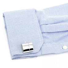 Polished Silver Oval WIFI and 2GB USB Combination Cufflinks