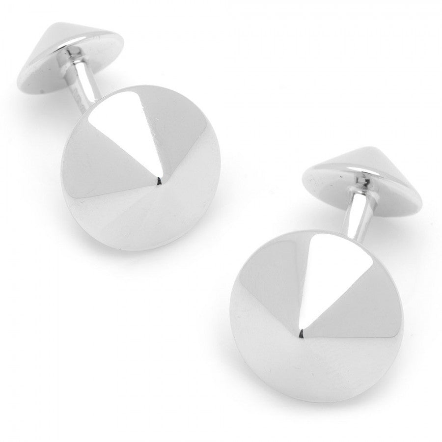 Silver Double Spike Cufflinks