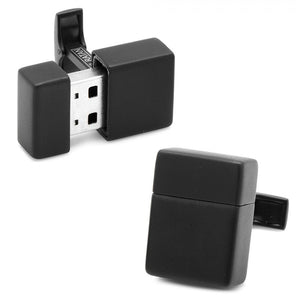 Black 8GB USB Flash Drive Cufflinks
