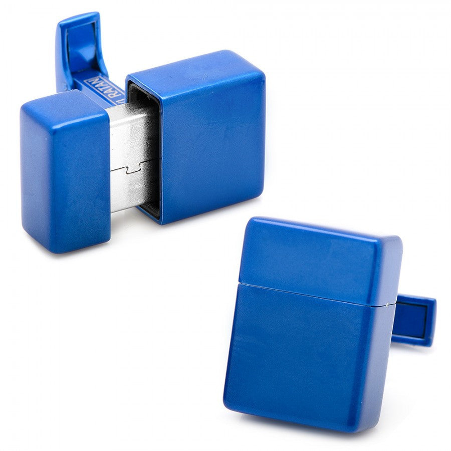 Blue 8GB USB Flash Drive Cufflinks