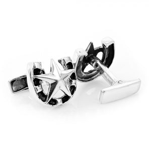 Sterling Lucky Star Cufflinks