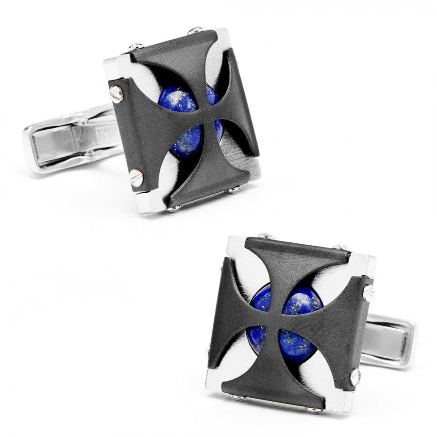 Lapis Caged Stones Cufflinks