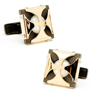 Mother of Pearl Caged Stones Cufflinks