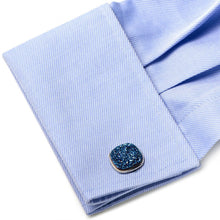Sterling Blue Square Druzy Cufflinks