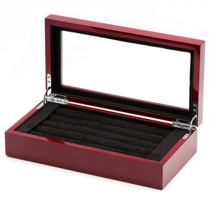20 Pair Mahogany Cufflinks Collector's Case