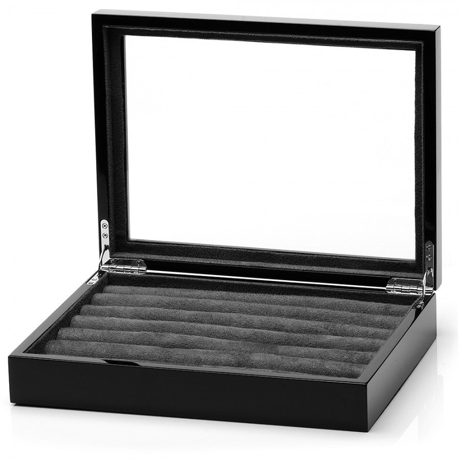 Classic Black Cufflinks Collector's Case
