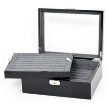 Deluxe Black Cufflinks and Jewelry Armoire