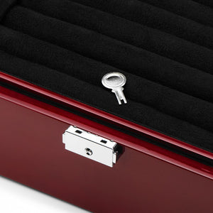 Deluxe Mahogany Cufflinks and Jewelry Armoire