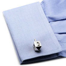 Sterling Dreidel Cufflinks