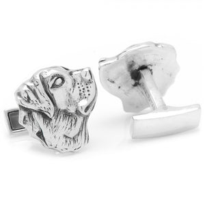 Sterling Labrador Cufflinks