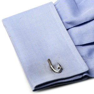 Sterling Fish Hook Cufflinks