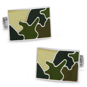 Palladium Woodland Camo Cufflinks