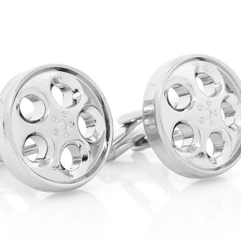 Chrome Wheel Cufflinks