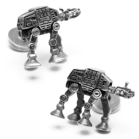 3D Palladium AT-AT Walker Cufflinks