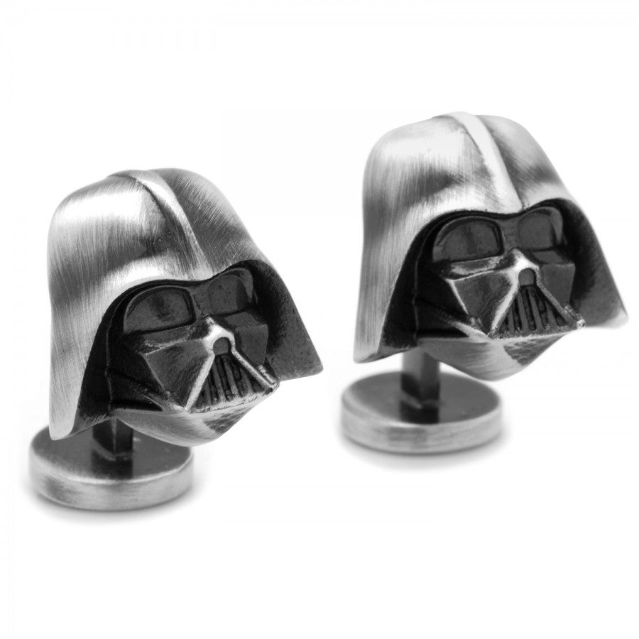 3D Antique Silver Darth Vader Star Wars Cufflinks