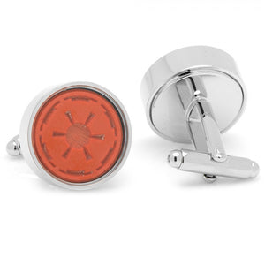 Imperial Symbol Rubber Stamp Cufflinks