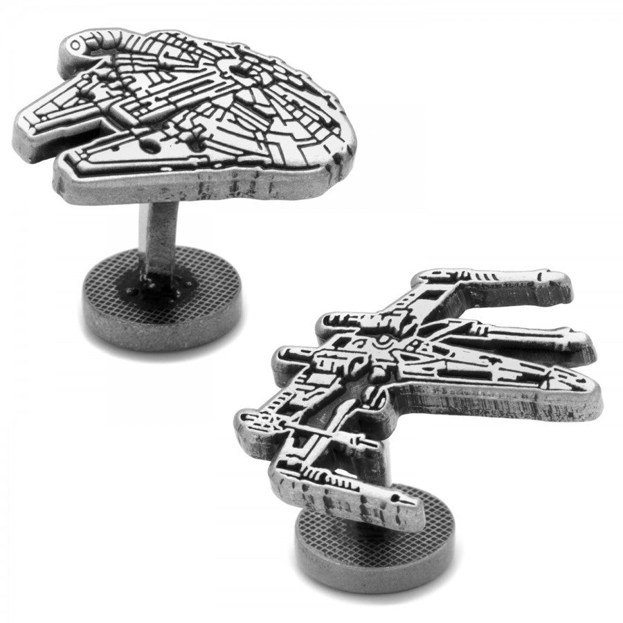 Millenium Falcon and X-Wing Star Wars Cufflinks