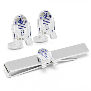 R2D2 Cufflinks and Tie Bar Gift Set