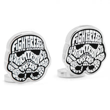 Storm Trooper Typography Cufflinks