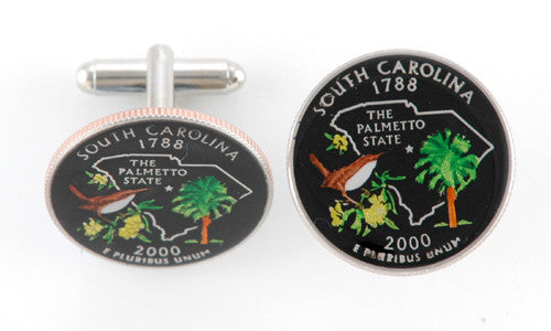 South Carolina State Coin Cufflinks