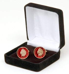 Ireland 1 Pence Celtic Bird Coin Cufflinks
