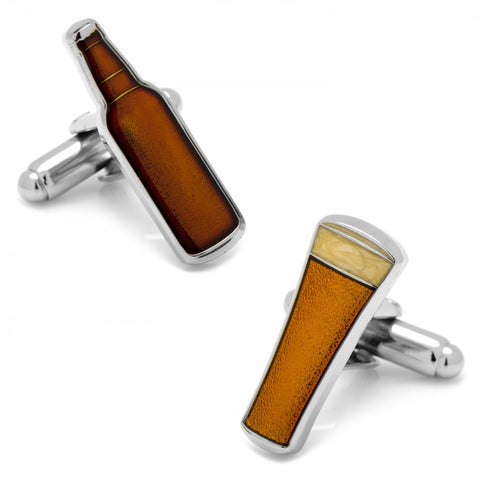 Beer and Bottle Cufflinks