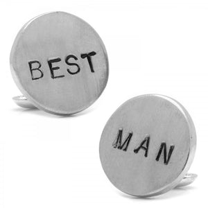 Pewter BEST MAN Cufflinks