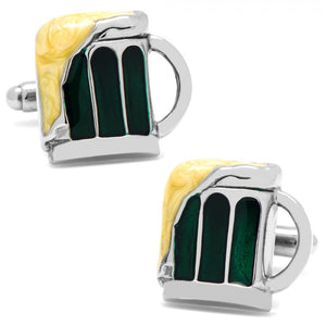 Green Draught Beer Cufflinks