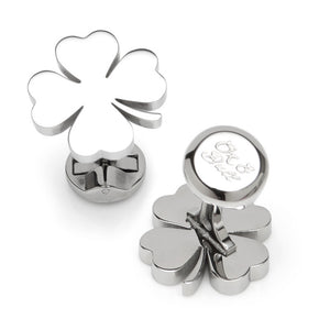 Four Leaf Clover Stainless Cufflink