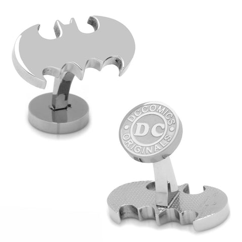 Batman Cufflinks and Carbon Fiber Tie Clip Gift Set