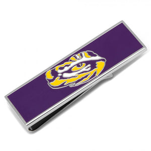 LSU Tiger's Eye Cufflinks and Money Clip Gift Set