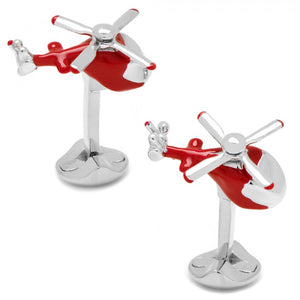 Moving Helicopter Cufflinks